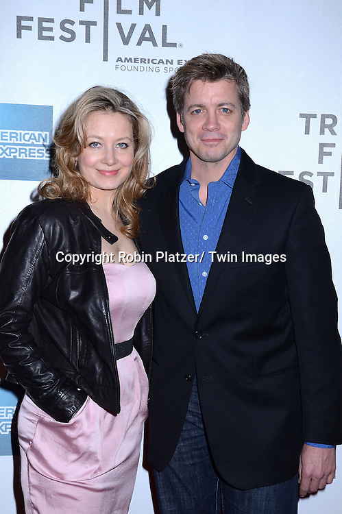 """Chris Henry Coffey and Jennifer Mudge  attending The Tribeca Film Festival 2011 screening of .""""The Bang Bang Club"""" on April 21, 2011 at BMCC/TPAC in New York City. The movie stars Ryan Phillippe and Malin Akerman."""