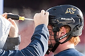 Rhett Bly (Merrimack - 19) -  - The participating teams in Hockey East's first doubleheader during Frozen Fenway practiced on January 3, 2014 at Fenway Park in Boston, Massachusetts.