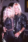 Vince Neil & Sharise Neil in Los Angeles Sept 1988.