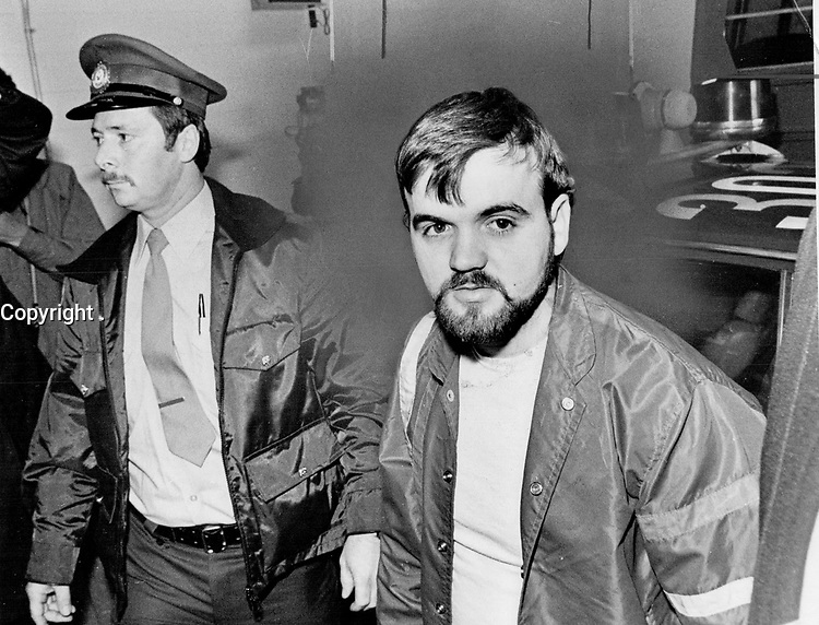 1984 FILE PHOTO - ARCHIVES -<br /> <br /> <br /> Le Caporal Denis Lortie, lors de son procès, 1984<br /> <br /> Denis Lortie: Judge imposed publication ban on testimony at corporal's preliminary hearing. He is charged with murdering three people at the Quebec National Assembly last May.<br /> <br /> 1984<br /> <br /> PHOTO : Boris Spremo - Toronto Star Archives - AQP