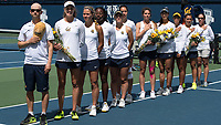 Berkeley, CA - Friday, April 14, 2017: The Cal women's tennis team defeated Washington 7-0 at Hellman Tennis Complex.