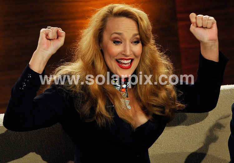 **ALL ROUND PICTURES FROM SOLARPIX.COM**.**SYNDICATION RIGHTS FOR UK AND SPAIN ONLY**.guests on the German TV show 'I Bet' (Wetten, dass..?) in Offenburg, Germany. 24th January 2009..This pic: Jerry Hall..JOB REF: 8321 CPR (Joerg Koch) DATE: 24_01_2009.**MUST CREDIT SOLARPIX.COM OR DOUBLE FEE WILL BE CHARGED* *UNDER NO CIRCUMSTANCES IS THIS IMAGE TO BE REPRODUCED FOR ANY ONLINE EDITION WITHOUT PRIOR PERMISSION*