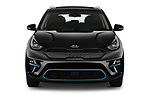 Car photography straight front view of a 2019 KIA Niro-EV  EX-Premium 5 Door Hatchback