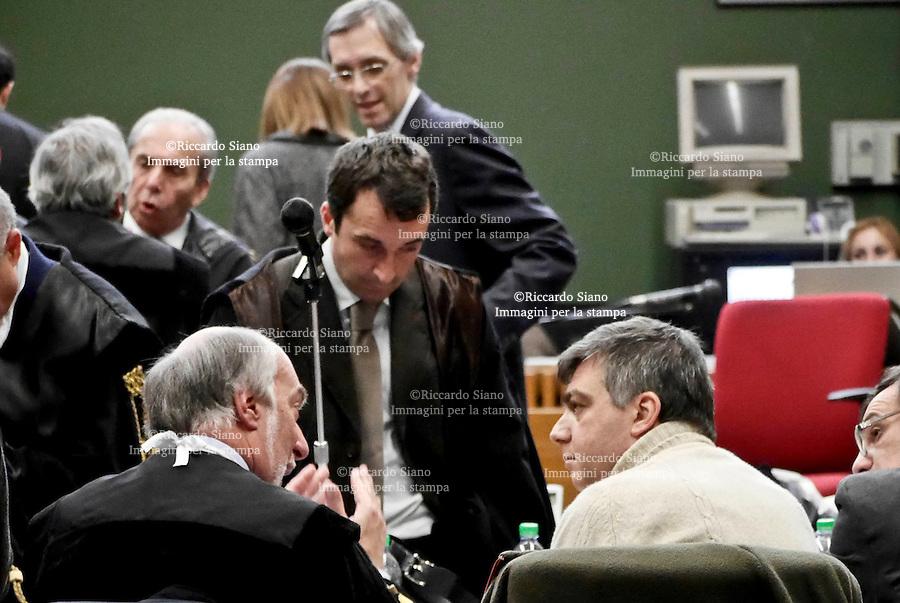 - NAPOLI  12 FEB    2014 - Processo a Berlusconi<br /> in aula Lavitola.  nella foto Valter Lavitola e avv Niccolò Ghedini