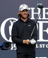 16th July 2021; Royal St Georges Golf Club, Sandwich, Kent, England; The Open Championship Tour Golf, Day Two; Tommy Fleetwood (ENG) prepares to hit his tee shot on the first hole