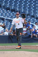 Joe Rizzo (6) of the East team waits for a throw during the 2015 Perfect Game All-American Classic at Petco Park on August 16, 2015 in San Diego, California. The East squad defeated the West, 3-1. (Larry Goren/Four Seam Images)