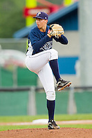 Princeton Rays starting pitcher Blake Snell (11) in action against the Burlington Royals at Hunnicutt Field on July 15, 2012 in Princeton, West Virginia.  The Royals defeated the Rays 2-0 in game one of a double header.  (Brian Westerholt/Four Seam Images)