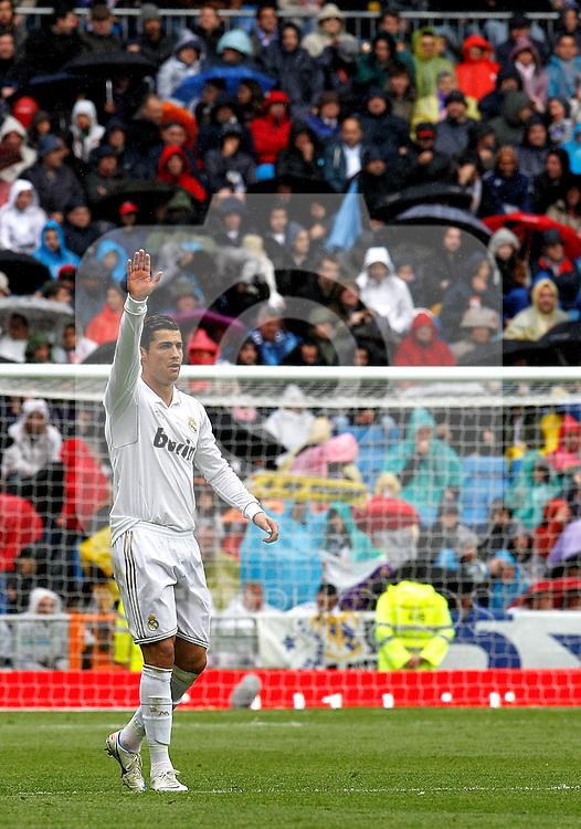 Real Madrid's Cristiano Ronaldo´s celebrate goal, Liga match 2011/2012, April 29, 2012. (ALTERPHOTOS/ARNEDO)
