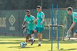 22.09.2020, Trainingsgelaende am wohninvest WESERSTADION - Platz 12, Bremen, GER, 1.FBL, Werder Bremen Training<br /> <br /> Milot Rashica (Werder Bremen #07)<br /> Jean Manuel Mbom (Werder Bremen 34)<br />  ,Ball am Fuss, <br /> Querformat<br /> <br /> <br /> <br /> Foto © nordphoto / Kokenge
