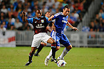 SO KON PO, HONG KONG - JULY 30: Frank Lampard of Chelsea and Fabian Delh of Aston Villa fight for the ball during the Asia Trophy Final match at the Hong Kong Stadium on July 30, 2011 in So Kon Po, Hong Kong.  Photo by Victor Fraile / The Power of Sport Images