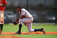 GCL Braves outfielder Isranel Wilson (8) during a game against the GCL Astros on July 23, 2015 at the Osceola County Stadium Complex in Kissimmee, Florida.  GCL Braves defeated GCL Astros 4-2.  (Mike Janes/Four Seam Images)