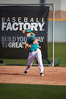Isaiah Hernandez (3) of Escambia High School in Pensacola, Florida during the Baseball Factory All-America Pre-Season Tournament, powered by Under Armour, on January 13, 2018 at Sloan Park Complex in Mesa, Arizona.  (Mike Janes/Four Seam Images)