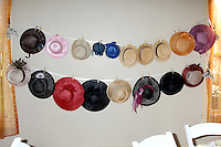"""****EXCLUSIVE*****.Hats that the guests were encouraged to wear at the 30th Birthday Tea for Jennifer Love Heweitt on the set of """"Ghost Whisperer""""  in Burbank, CA  on.February 19, 2009.©2009 Kathy Hutchins / Hutchins Photo..Publicist Approval Received.                ."""