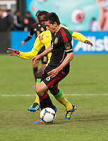 San Francisco, California - Saturday March 17, 2012: Hector Herrera in in action during the Mexico vs Senegal U23 in final Olympic qualifying tuneup. Mexico defeated Senegal 2-1