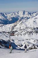 Europe/France/Rhone-Alpes/73/Savoie/Val-Thorens : Ski au sommet de la Cime de Caron 3200m