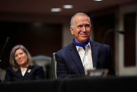 United States Senator Thom Tillis (Republican of North Carolina), right, and US Senator Joni Ernst (Republican of Iowa), attend a US Senate Judiciary Committee business meeting to consider authorization for subpoenas relating to the Crossfire Hurricane investigation, and other matters on Capitol Hill in Washington, Thursday, June 11, 2020. <br /> Credit: Carolyn Kaster / Pool via CNP/AdMedia