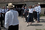 Long Sutton Friendly Society annual Club Walk Day. 2019. David Crossman Secretary a vote of thanks for Mrs Sara Ward of Charity Farm for the refreshments for club members.