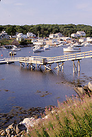 New Harbor, Maine, ME, Pemaquid, Scenic view of fishing boats in the harbor.