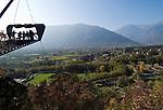 Italien, Suedtirol, Meran: Schloss Trautmannsdorff, Aussichtsplattform,  Botanischer Garten, Park | Italy, South Tyrol, Alto Adige, Merano: Castle Trautmannsdorff, Botanical Garden, Park