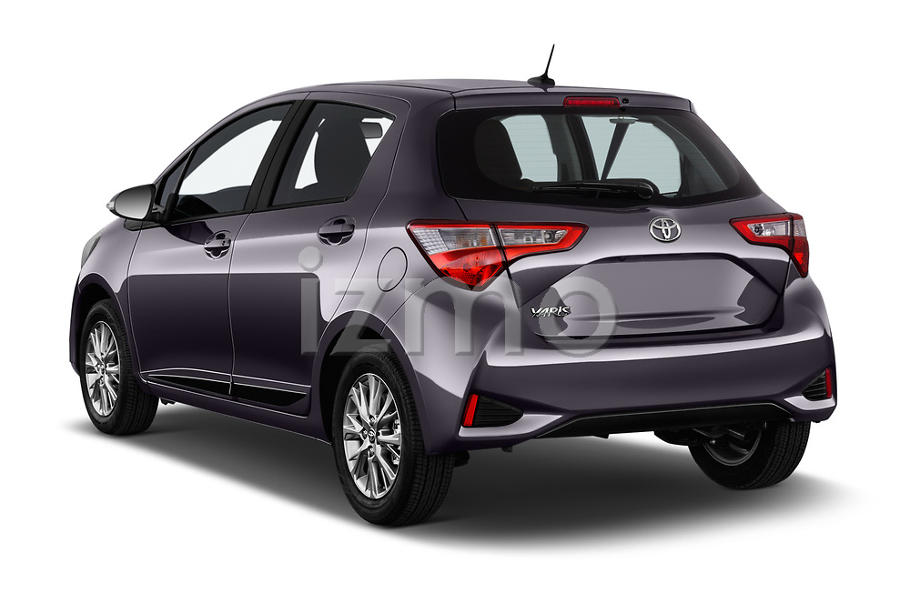 Car pictures of rear three quarter view of 2017 Toyota Yaris Y-conic 5 Door Hatchback angular rear