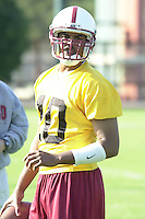 Chris Lewis on the first day of spring practice on April 3, 2002 at Stanford.<br />Photo credit mandatory: Gonzalesphoto.com