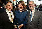 From left: Monty McDonald, Katina Potikes and Stan Marek at the Holocaust Museum Houston's Guardian of the Human Spirit Luncheon at the Hilton Americas Hotel Monday Nov.18, 2013. (Dave Rossman photo)