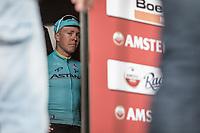 winner Michael Valgren Andersen (DEN/Astana) awaiting the podium ceremony. <br /> <br /> 53th Amstel Gold Race (1.UWT)<br /> 1 Day Race: Maastricht > Berg en Terblijt (263km)