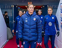 HARRISON, NJ - MARCH 08: Ashlyn Harris #18 of the United States enters the field during a game between Spain and USWNT at Red Bull Arena on March 08, 2020 in Harrison, New Jersey.