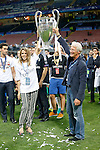 American actor Richard Gere and his girlfriend celebrates the victory of Real Madrid  in the UEFA Champions League 2015/2016 Final match.May 28,2016. (ALTERPHOTOS/Acero)