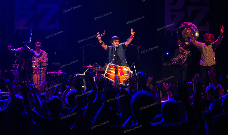 Red Baraat Play the Vogue Theatre,June 28, 2013 in the TD Vancouver International Jazz Festival