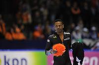 SCHAATSEN: HEERENVEEN: Thialf, Essent ISU World Cup, 02-03-2012, Shani Davis (USA) wins 1500m, ©foto: Martin de Jong