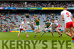 Tommy Walsh, Kerry in action against Connor McAliskey, Tyrone during the All Ireland Senior Football Semi Final between Kerry and Tyrone at Croke Park, Dublin on Sunday.
