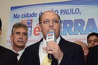 SAO PAULO, 04 DE JUNHO DE 2012 - SERRA PR -o Governador Geraldo Alckmin em reuniao de apoio politico ao candidato Jose Serra na sede do Partido da Republica. na Avenida Republica do Libano, regiao sul da capital, na tarde desta segunda feira. FOTO: ALEXANDRE MOREIRA - PHOTO PRESS
