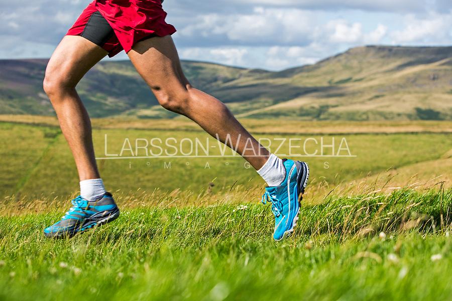Trail runners legs.
