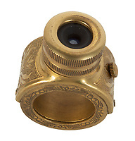BNPS.co.uk (01202 558833)<br /> Pic: Julien'sAuctions/BNPS<br /> <br /> Pictured: A Soviet KGB spy miniature camera designed to look like a ring.<br /> <br /> A selection of ingenious Cold War Soviet Union espionage items are set to sell for £75,000. ($100,000)<br /> <br /> They include a ring containing a hidden camera, valued at £9,000, and a 'spy tree' with a transmitter and recording equipment inside.<br /> <br /> The 64ins piece of shrubbery, estimated at a modest £600, would have been installed at locations to eavesdrop on their targets.<br /> <br /> A John Player cigarette case with a concealed camera could sell for £5,000, while a document copying device may go for £2,400.