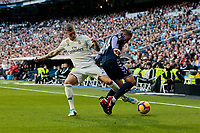 Real Madrid's Toni Kroos and Real Valladolid's Ruben Alcaraz during La Liga match between Real Madrid and Real Valladolid at Santiago Bernabeu Stadium in Madrid, Spain. November 03, 2018. (ALTERPHOTOS/A. Perez Meca)<br /> Liga Campionato Spagna 2018/2019<br /> Foto Alterphotos / Insidefoto <br /> ITALY ONLY