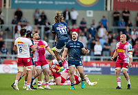 4th June 2021; AJ Bell Stadium, Salford, Lancashire, England; English Premiership Rugby, Sale Sharks versus Harlequins; Marland Yarde of Sale Sharks  takes a high ball