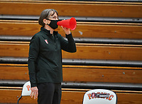 STOCKTON, CA - DECEMBER 15: Head coach Tara VanDerveer of the Stanford Cardinal sets the record for the most victories in Division I women's basketball, with 1,099 during a game between Pacific and Stanford Basketball W at Alex G. Spanos Center on December 15, 2020 in Stockton, California.