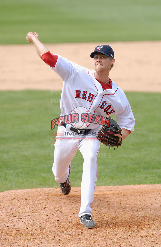 RHP Daniel Bard of the Pawtucket Red Sox, the AAA International League affiliate of the Boston Red Sox,at McCoy Stadium in Pawtucket, RI 5-2-09(Photo by Ken Babbitt/Four Seam Images)