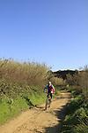 Israel, Sharon region, biking in Poleg Nature reserve