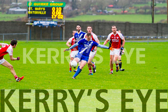 St Mary's Denis Daly in space clock up another fine point for the home side in the South Kerry Final Replay in Cahersiveen on Saturday.  St Marys 0-14 Waterville 0-7.