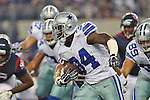Dallas Cowboys running back Phillip Tanner (34) in action during the pre-season game between the Houston Texans and the Dallas Cowboys at the AT & T stadium in Arlington, Texas. Houston leads Dallas 14 to 3 at halftime.