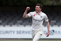 Matt Salisbury of Durham celebrates taking the wicket of Tom Westley during Essex CCC vs Durham CCC, LV Insurance County Championship Group 1 Cricket at The Cloudfm County Ground on 15th April 2021