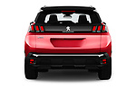 Straight rear view of a 2018 Peugeot 3008 Allure 5 Door SUV stock images
