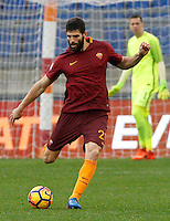 Roma's Federico Fazio in action during the Italian Serie A football match between Roma and Napoli at Rome's Olympic stadium, 4 March 2017. <br /> UPDATE IMAGES PRESS/Riccardo De Luca