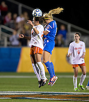 Danielle Colaprico, Rosie White. UCLA advanced on penalty kicks after defeating Virginia, 1-1, in regulation time at the NCAA Women's College Cup semifinals at WakeMed Soccer Park in Cary, NC.