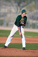 George Packard (55), from Yelm, Washington, while playing for the Athletics during the Under Armour Baseball Factory Recruiting Classic at Red Mountain Baseball Complex on December 28, 2017 in Mesa, Arizona. (Zachary Lucy/Four Seam Images)