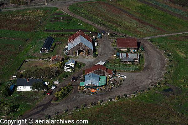 aerial photograph Green String Farm, Petaluma, Sonoma county, California