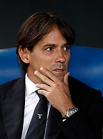 Calcio, Serie A: Roma, stadio Olimpico, 22 ottobre 2017.<br /> Lazio's coach Simone Inzaghi waits for the start of the Italian Serie A football match between Lazio and Cagliari at Rome's Olympic stadium, October 22, 2017.<br /> UPDATE IMAGES PRESS/Isabella Bonotto