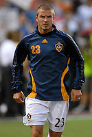 Los Angeles Galaxy midfielder David Beckham (23) warming up before his debut. DC United defeated the Los Angeles Galaxy 1-0 at RFK Stadium in Washington DC, Thursday August 9, 2007.